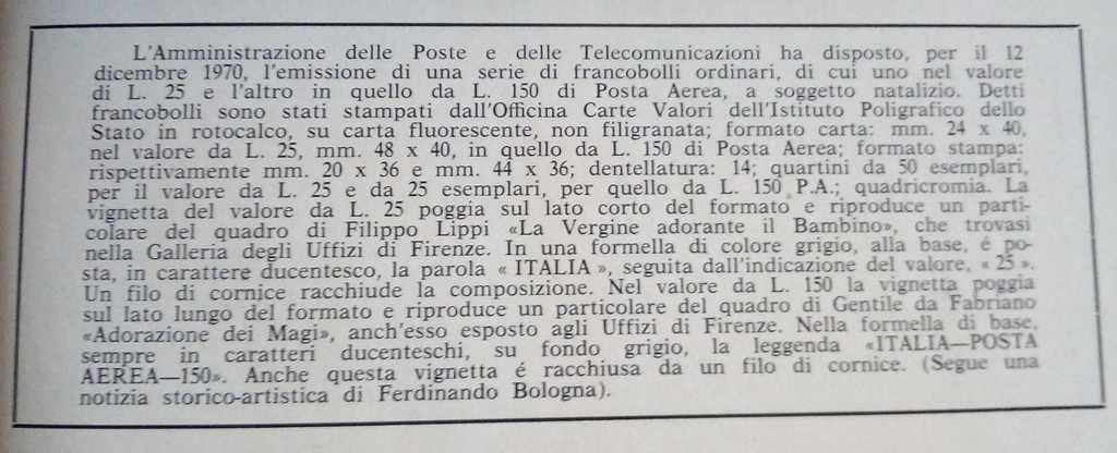 """Comunicato Ufficiale delle Poste Italiane """"Il Presepio"""" numero 64"""