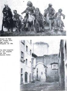 statue presepe sulla torre degli anguillara